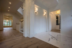 custom marble and hardwood flooring