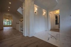 Hallway hardwood flooring