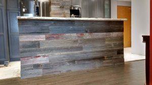 Barnboard walls